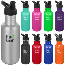 Klean Kanteen Clásico 18 OZ (approx. 510.28 g) Botella de Pared Simple Con Tapa 3.0 Sport