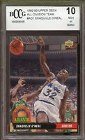 1992-93 Upper Deck All-Division #AD1 Shaq O'Neal Rookie Card BGS BCCG 10 Mint+