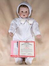 """Ashton Drake Nicholas Winter Baby Porcelain Boy Doll By Joan Ibarolle 20"""" w/Box"""