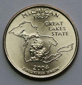 2004 D Michigan State Quarter Gem BU US Coin