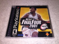NCAA Final Four 2001 (Sony PlayStation 1, 2000) PS1 Black Label Complete LN Mint