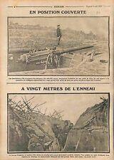 Artillery Canon Austria Imperial Russian Army Poilus Tranchées la Marne WWI 1915