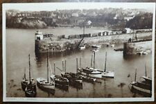 Newquay, The Harbour. Vintage Photochrom # 73438 Postcard