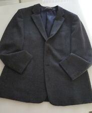 Armani Collezioni Men's Wool-Blend Jacket Blazer, 46R Charcoal Grey
