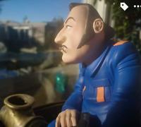 COLUCHE caricature statuette figurine SAINT EMETT collector