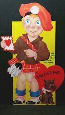 You'D Make This Lad Very Glad Vintage Valentine Mechanical Card Boy in Kilt