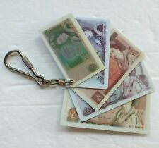 Bank of England 5 10 20 50 Pound Plastic Bills Key Chain