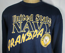 Long Sleeve Sweatshirt United States Navy Grandpa XL Pullover USA Made USN