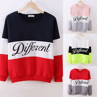 Lady Casual Loose Hooded Thick T-Shirt Pullovers Colored Long Sleeve Sweatshirts