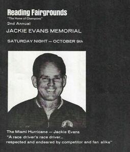 1971 Reading(PA) Fairgrounds Jackie Evans Memorial Program