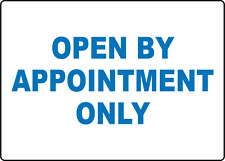 Open By Appointment Only Storefront Window Adhesive Vinyl Sign Decal