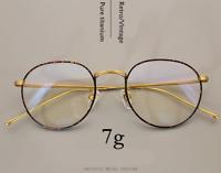Deluxe Pure Titanium Glasses Frames Retro/Vintage Oval Eyewear RX Eyeglasses 7g