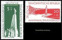 EBS East Germany DDR 1957 Ravensbruck Concentration Camp Michel 566-567 MNH**