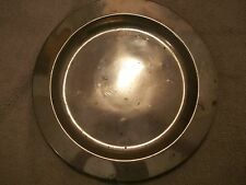 """Vintage K.S.C. Pewter Charger Plate #P155  ~13-1/8"""" x 7/8""""~"""