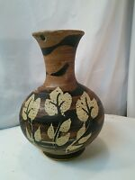 Vtg 1972 USA Mid-cent Modern Pottery Art vase SIGNED B Welsh PACIFIC STONEWARE