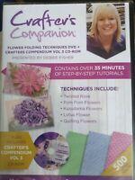Crafter's companion  Flower Folding Techniques ,COMPENDIUM VOL3  pc cdrom, B3