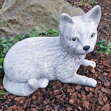 Steinfigur Katze Mieze Deko Garten Tierfigur Gartenfiguren Steinguss NEU 03 A