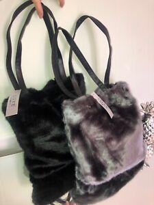 Faux Fur Shoulder Bag. Just £8.99! Faux Leather straps & Button fastening.