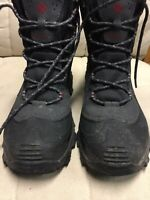 columbia Mens Waterproof Boots Size 8.5 Black Gray