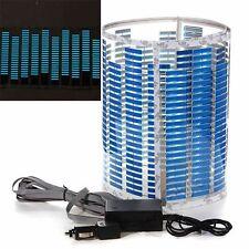 Lampada 90x25cm LED Blue Car Musica Sticker suono ha attivato Equalizzatore