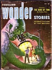 Pulp THRILLING WONDER STORIES October 1952 - Jack Vance, Wallace West, Schomburg