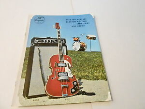 VINTAGE MUSICAL INSTRUMENT CATALOG #10093 - 1960s EMPERADOR GUITARS