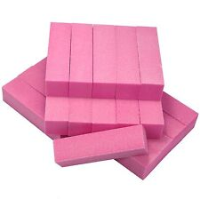 10 Pcs Pink Nail Art Buffer Sanding Files Block Grit Acrylic Manicure Tools Set