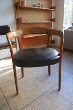 Schreibtischstuhl Armlehnstuhl Stuhl 60er-70er Jahre Armchair Leder,Teak Danish