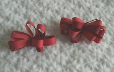 Gymboree Girls Red Bows Barrettes 3T 4 5 6 7 8 9 Valentine's Day Christmas