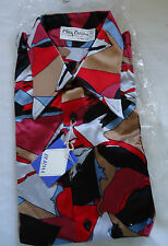 NOS VTG DEADSTOCK 70s DISCO SHIRT M ABSTRACT GROOVY POP PRINT OLEG CASSINI