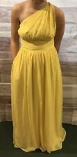 Tevolio Women's Yellow One Shoulder Long Formal Dress Size 14 Brand New LBB76