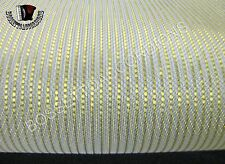 "Accordion Grille Lining SOFT WIRE GOLD / WHITE CLOTH 18""x7"" IMPORT ITALY"