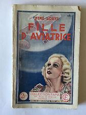 FILLE D'AVIATRICE 1937 RENE LOUYS COLLECTION FAMA AVIATION AVION