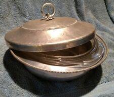 VNTG B W Buenilum Hammered Aluminum Covered Casserole Dish w 2 Pirex inserts-4pc