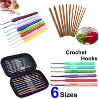 1 Set Aluminum Plastic Bamboo Crochet Hooks Knitting Needles Set Weave Craft