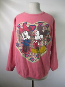 G3332 VTG Walt Disney Mickey And Minnie Love Crew Neck Sweatshirt Sz M