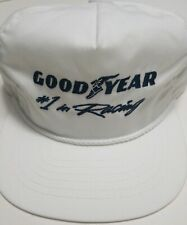 White Original Goodyear Cap - Rope Style Vintage  Swingster Hat - Made in  USA