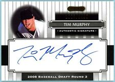 2008 Razor Signature Draft TIM MURPHY rookie auto au /1499 - RoughRiders