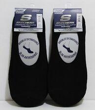 SKECHERS No Show Men Socks 3 Pairs Size 10-13 Black