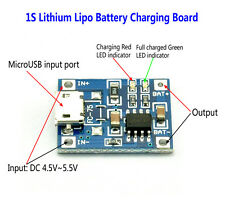 5V 1A 1S 3.7V Li-ion 18650 Lithium Lipo Battery Charging Module Charger Board