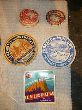 Ancienne Etiquette FROMAGE Petit Camembert Vache Qui Rit Vieux Chateau Mt d'Or