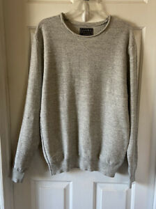 Jachs New York Rolled Neck Light Gray Sweater Size Large