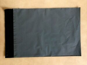 """100 A4 Large letter Grey Poly Postal bags 230X310mm  (9x12"""")  Parcel Bags Mail"""