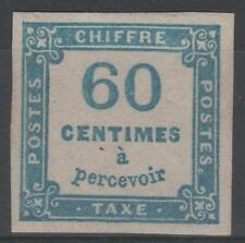 "FRANCE STAMP TIMBRE TAXE N° 9 "" CHIFFRE TAXE 60c BLEU "" NEUF x TTB  N201"