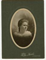 Antique Matted Photo - Pretty Young Lady, Pueblo, Colorado - Howard Studio