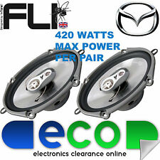 "Mazda 3 2003 - 2009 FLI 6""x8"" 420 Watts 3 Way Replacement Door Speakers Pair"