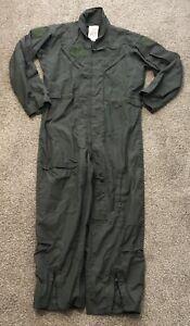 OD Green Flight Suit USAF Navy Army USMC Air Force Uniform Pilot 42R
