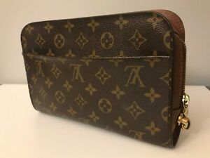 Authentic Louis Vuitton Orsay Clutch Bag Monogram Brown Canvas #A80073 no strap