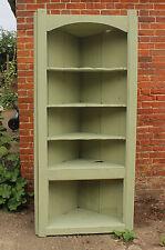 Vintage Painted Reclaimed Pine Corner Cupboard