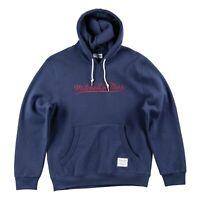 Mitchell & Ness Branded Essential Script Navy Hoodie Sweatshirt Jumper - Small
